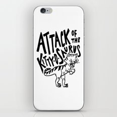 The Attack of Kitty-o-Saurus! iPhone Skin