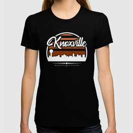 Retro Knoxville Tennessee Sunset Skyline T-shirt