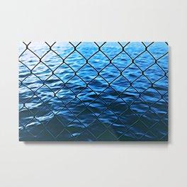 Fenced water Metal Print