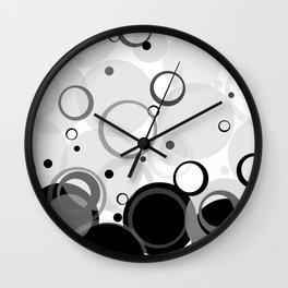 Circle Dance, Bubbles, Champagne Wall Clock