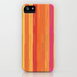 Orange and Yellow Stripes and Lines Abstract iPhone Case