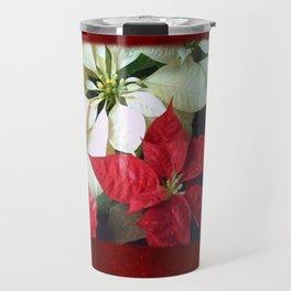 Mixed Color Poinsettias 2 Blank P5F0 Travel Mug