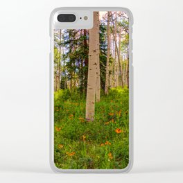 Crested Butte, Kebler Pass in Spring - Panorama by OLena Art for #society5 Clear iPhone Case