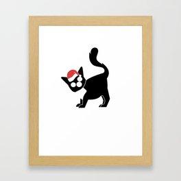 Cat Christmas Fuck You ugly joke gift Framed Art Print