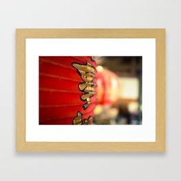 Soft Scarlet in the Hut Framed Art Print