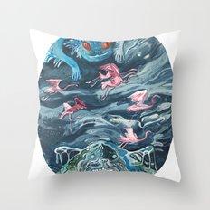 Water Gods Throw Pillow