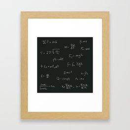 Physics Framed Art Print