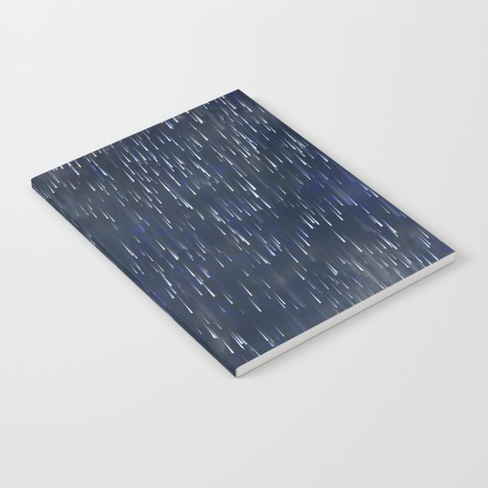 Raining Blue Notebook