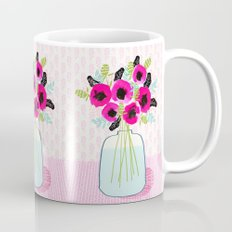 Poppies Vase of flowers cut flower mother's day cute florals illustration Andrea Lauren Mug
