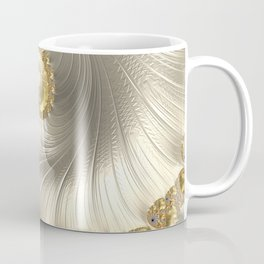 Gold and Pearl Fractal Swirl Coffee Mug