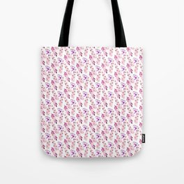 Pastel pink lilac lavender watercolor floral fern leaves Tote Bag