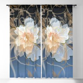 Beautiful Abstract Floral Blackout Curtain
