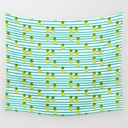 Ananas tropical summer pattern Wall Tapestry