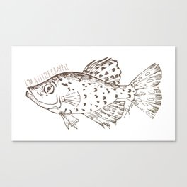 I'm a little Crappie, Funny Fish Illustration Canvas Print