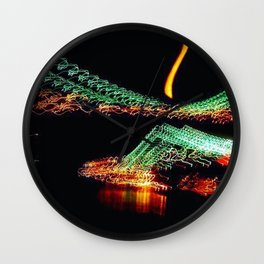 Brooklyn Night Views Wall Clock