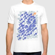 100 fishes Mens Fitted Tee White MEDIUM