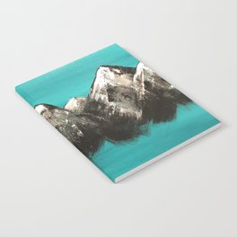 Turquoise Mountains by Noelle's Art Loft Notebook