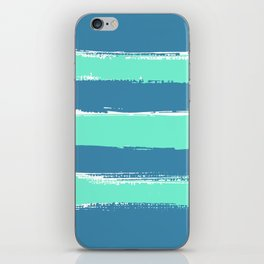 Mint Stripes on Sea iPhone Skin