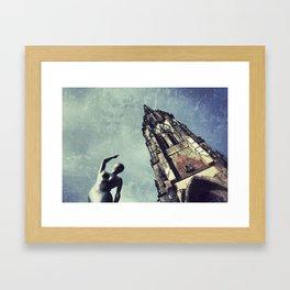 Ruined WW2 Church Framed Art Print
