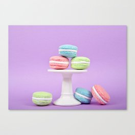 Macaron Sweet Treats Canvas Print