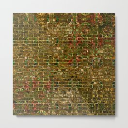 Grunge Wall Of Gold One Metal Print