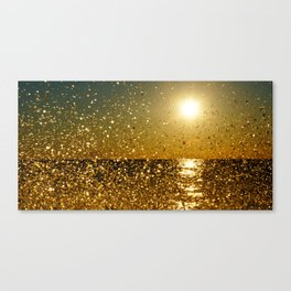 Back-lit Sunset Splashes Canvas Print