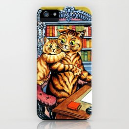 Louis Wain Cat and Kitten iPhone Case