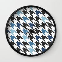 tooth Wall Clocks featuring Blue Tooth by Project M