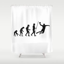 Handball Evolution Distressed Look Shower Curtain
