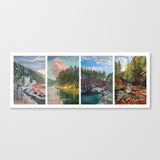 Black Hills Four Seasons Canvas Print