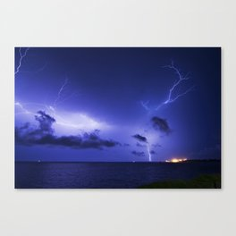 Darwin Lightning- Fort hill warf Canvas Print