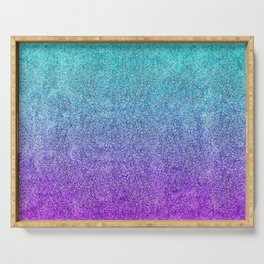 Tropical Twilight Glitter Gradient Serving Tray