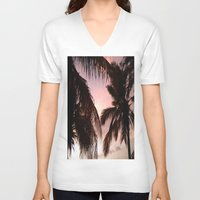 palm trees V-neck T-shirts featuring palm trees by NatalieBoBatalie