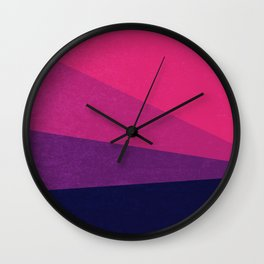 Stripe VII Ultraviolet Wall Clock