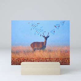 Deer with light language Mini Art Print