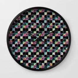 Multicolored Black Patchwork Wall Clock
