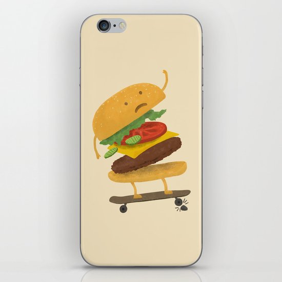 Burger Wipe-out  iPhone & iPod Skin