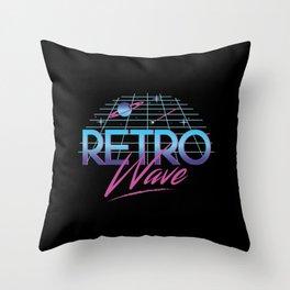 Retro Wave Under The Stars Throw Pillow