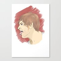 "wwe Canvas Prints featuring WWE Dean Ambrose - ""Lunatic Fringe"" by Little Tigy"