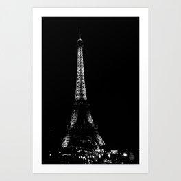 Paris by night Art Print