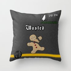 Christmas inspired by GTA Grand Theft Auto San Andreas Throw Pillow