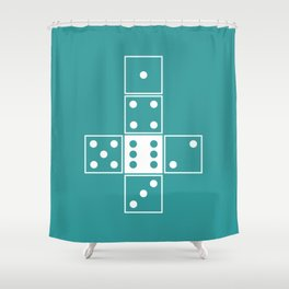 Unrolled D6 Shower Curtain