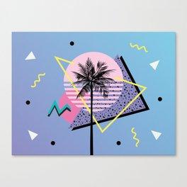 Memphis pattern 46 - 80s / 90s Retro / Palm Tree Canvas Print