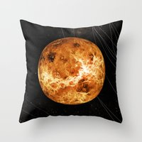 venus Throw Pillows featuring VENUS by Alexander Pohl