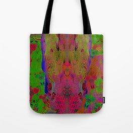 Sugar Skull and Girly Corks (Ultraviolet, Psychedelic) Tote Bag