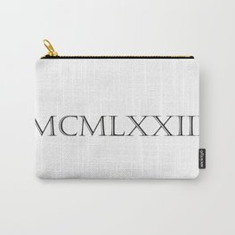 Roman Numerals - 1973 Carry-All Pouch