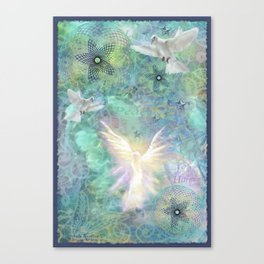 """Angelic Peace & Harmony"" Canvas Print"