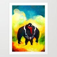 Venom in Wonderland Art Print