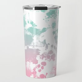 Margot - abstract painting mint and pink pastel trendy girly home decor dorm college gifts Travel Mug