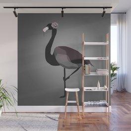 Black Flamingo Wall Mural